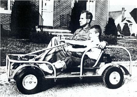 Father & Son riding a King Midget Junior