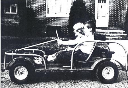 Two Boys riding a King Midget Junior